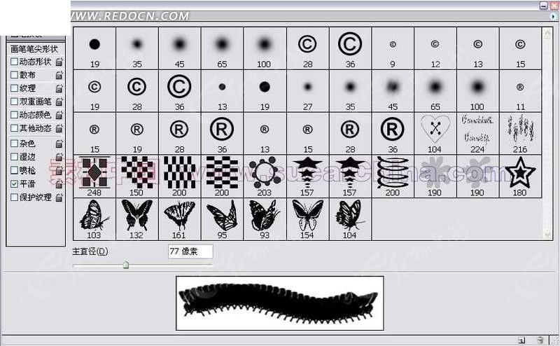 蝴蝶 文字 符号ps笔刷