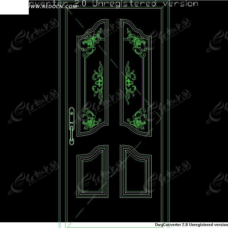 单扇门模型设计源文件 单扇门线条设计 单扇门线条模型设计 单扇门