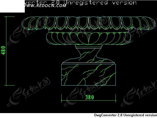 CAD喷泉景观图块