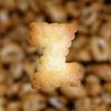字母饼X特写图片图片