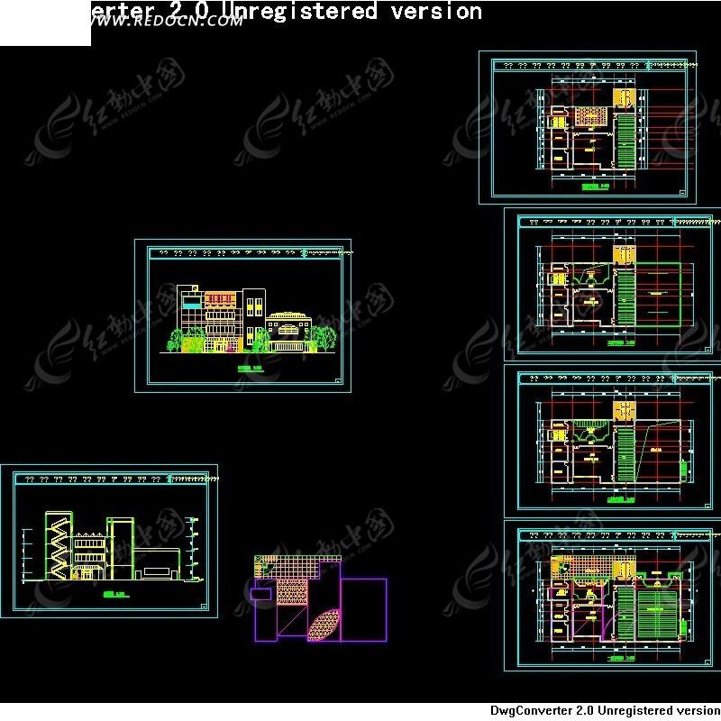 cad学校建筑平面图
