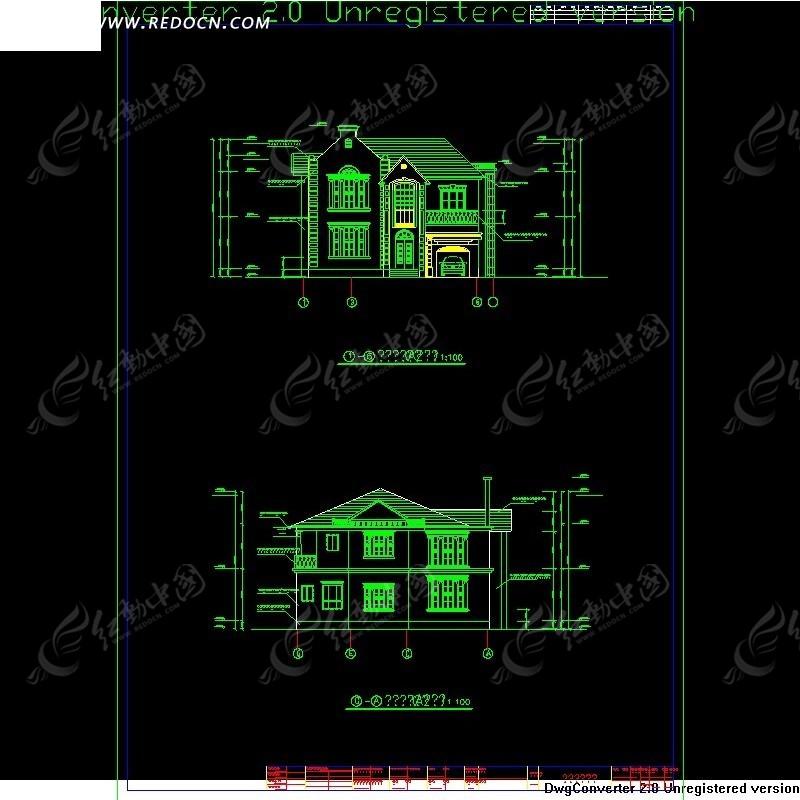 图库别墅图CAD格式(编号:951629)_CAD尺寸中国地图cad版本图片