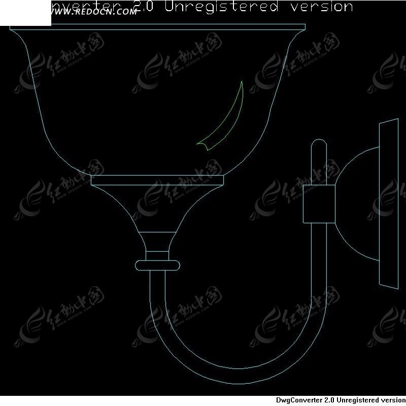 壁灯设计图CAD素材免费下载 编号951575 红动网