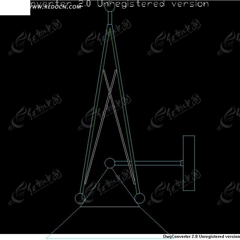 壁灯CAD结构效果图