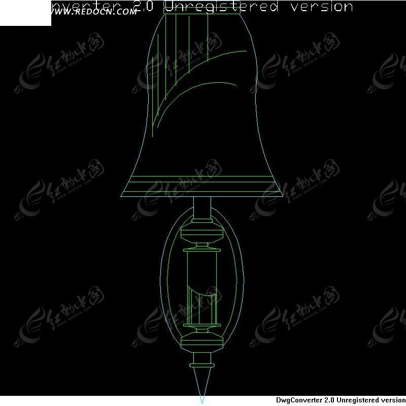 壁灯图纸 钟形简洁灯具