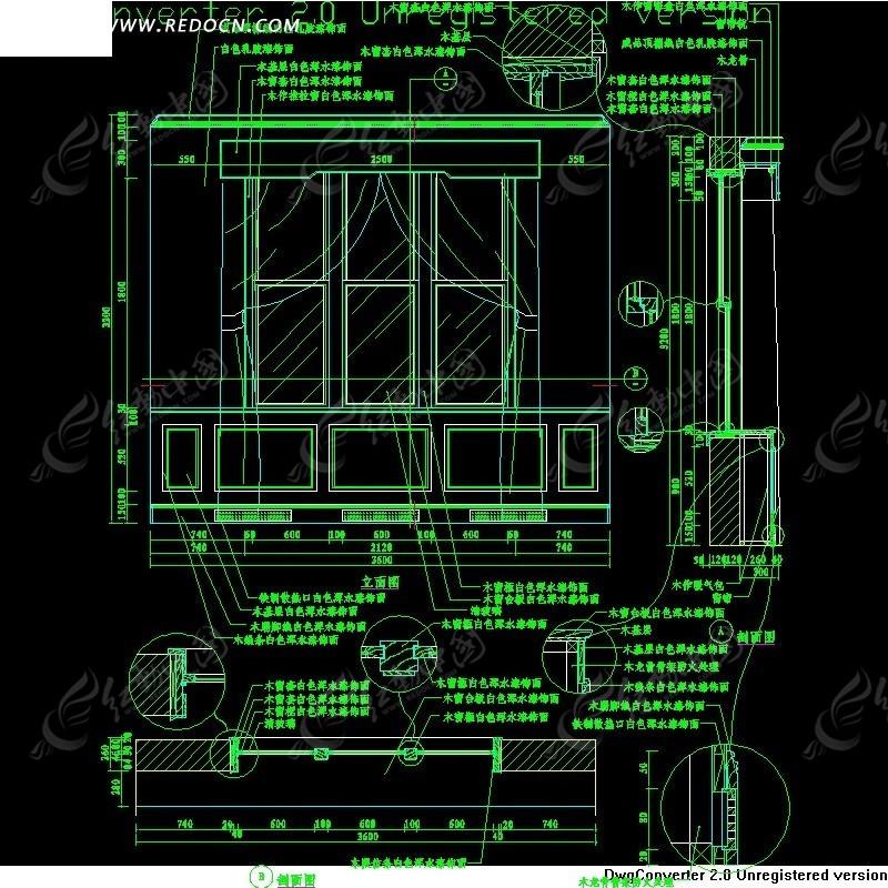 窗及窗套施工设计详图