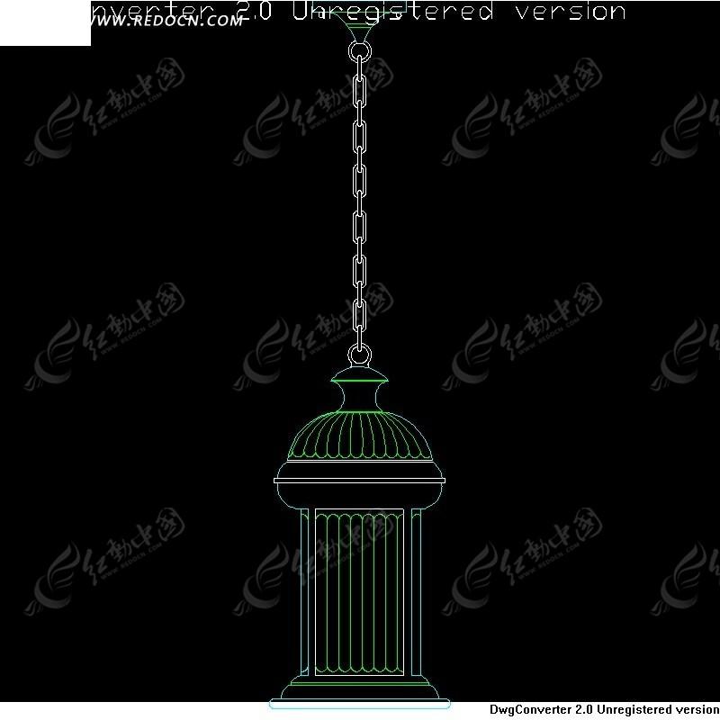 cad图 吊灯 里面图库 链子 罗马柱 线条 手绘