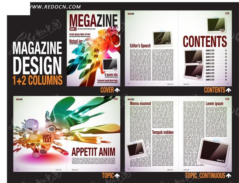 排版设计 矢量素材 黑色背景 小箭头  版式设计 画册模板 目录设计 矢图片