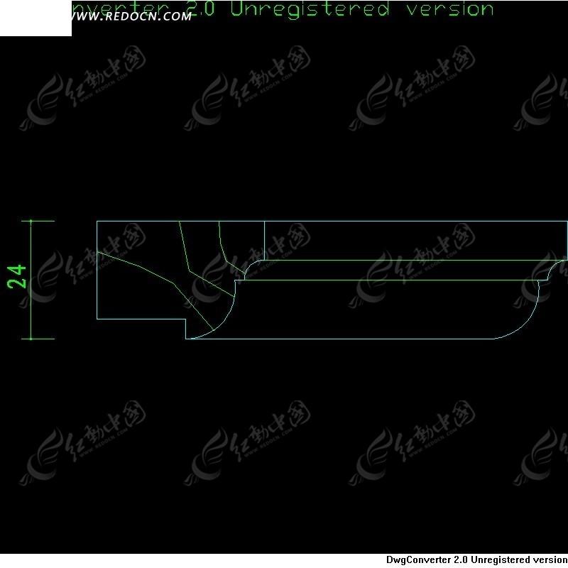 木线凸出标题-框图设计微图纸的木线_CAD图cad+弧形+栏插入底部图片
