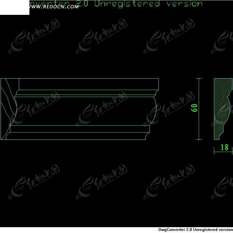 18x60木线cad设计图