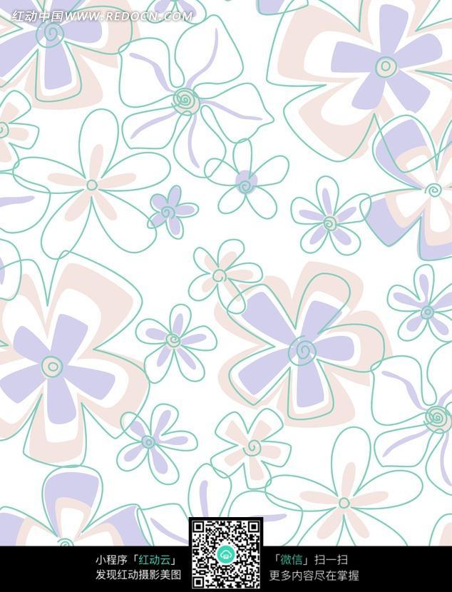 可爱的手绘花朵图案图片