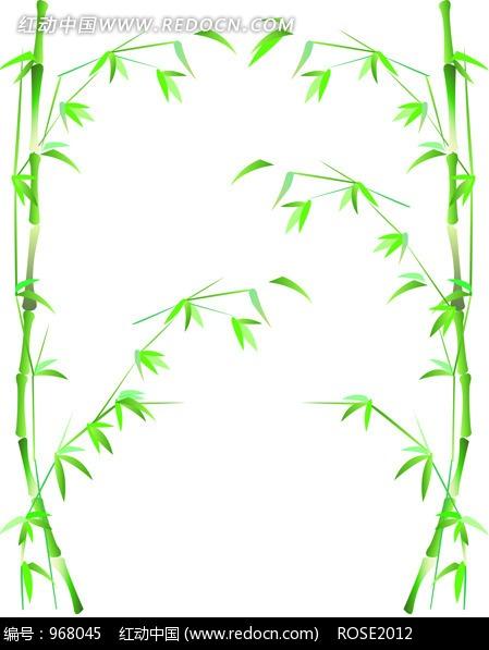 竹子简笔画边框