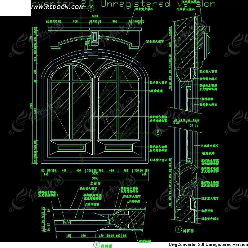 欧式窗cad模型图片