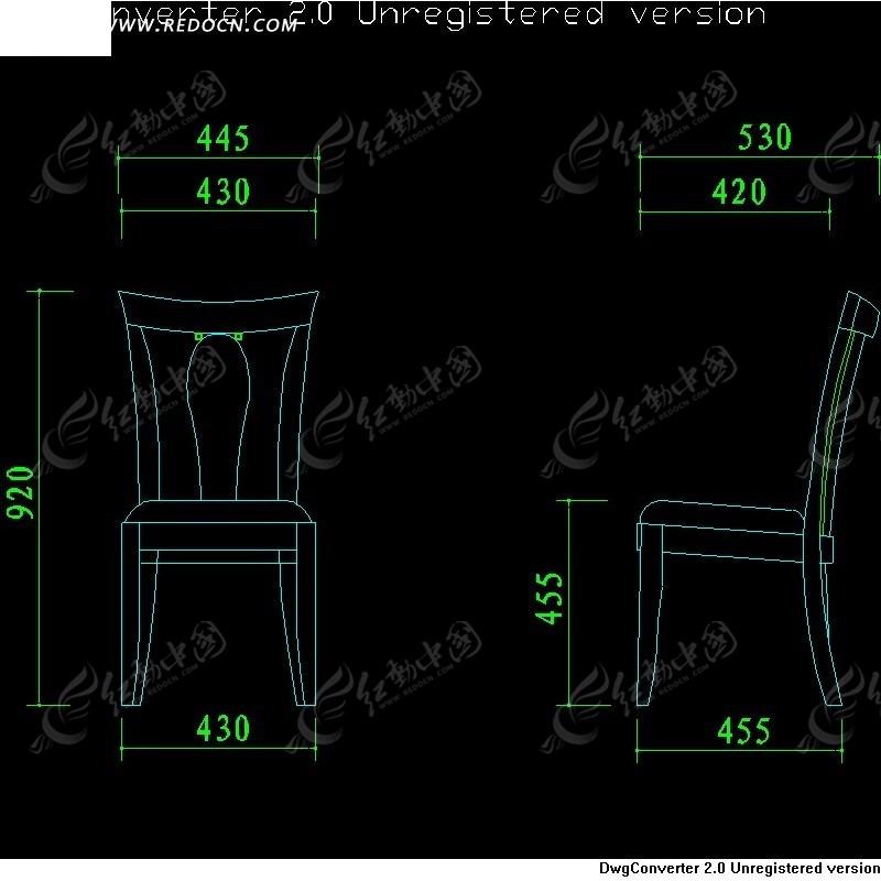 椅子设计图_cad图库