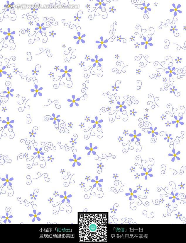 图片素材 背景花边 底纹背景 淡雅白底蓝色花朵平铺图片〖碎花〗