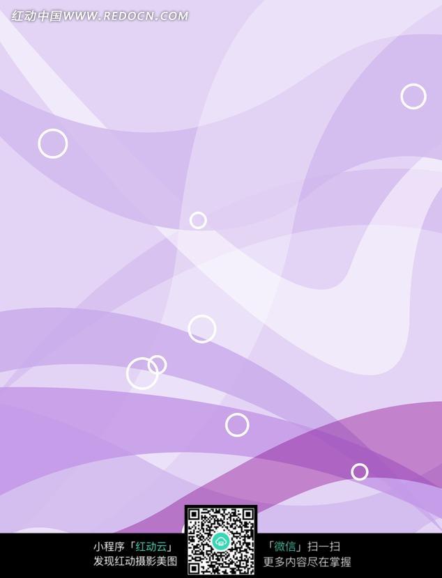 浅紫色手绘壁纸