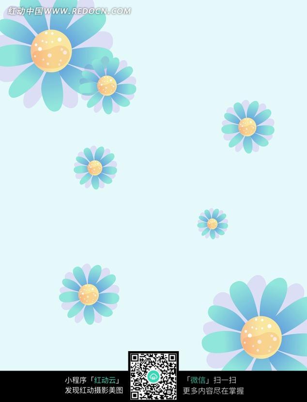 紫蓝色相间 花朵图案 高清 创意图片 精美底纹 背景素材 图片素材 设