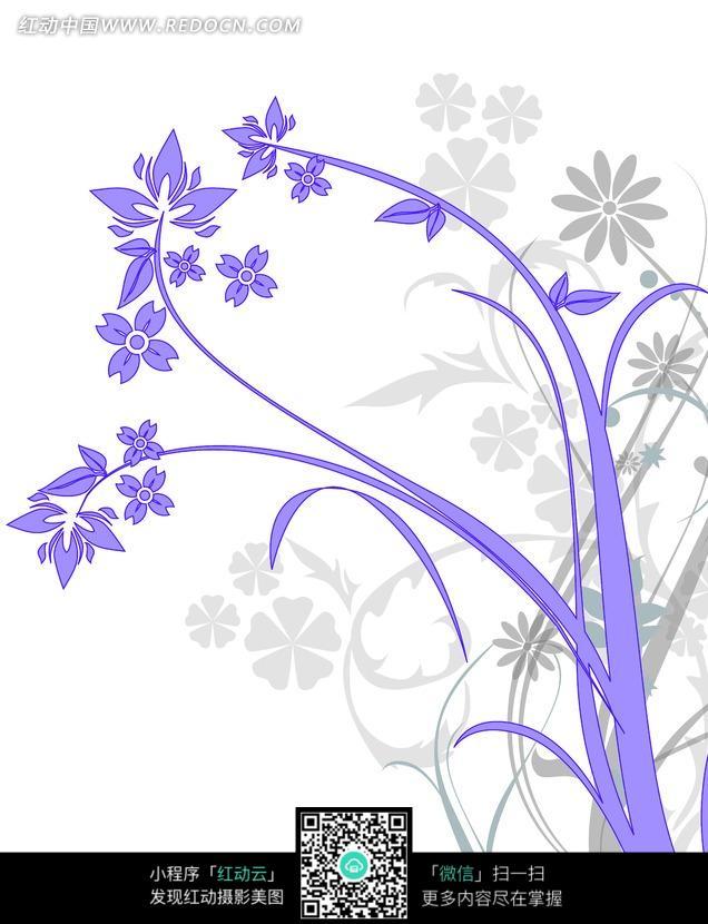欧式紫色花纹底纹元素图片