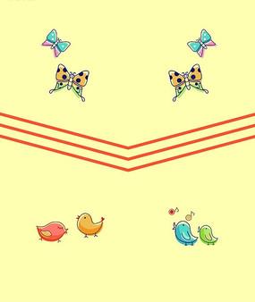 免费素材 图片素材 背景花边 底纹背景 卡通五线谱上的音符