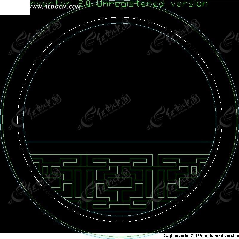 传统圆形中式窗