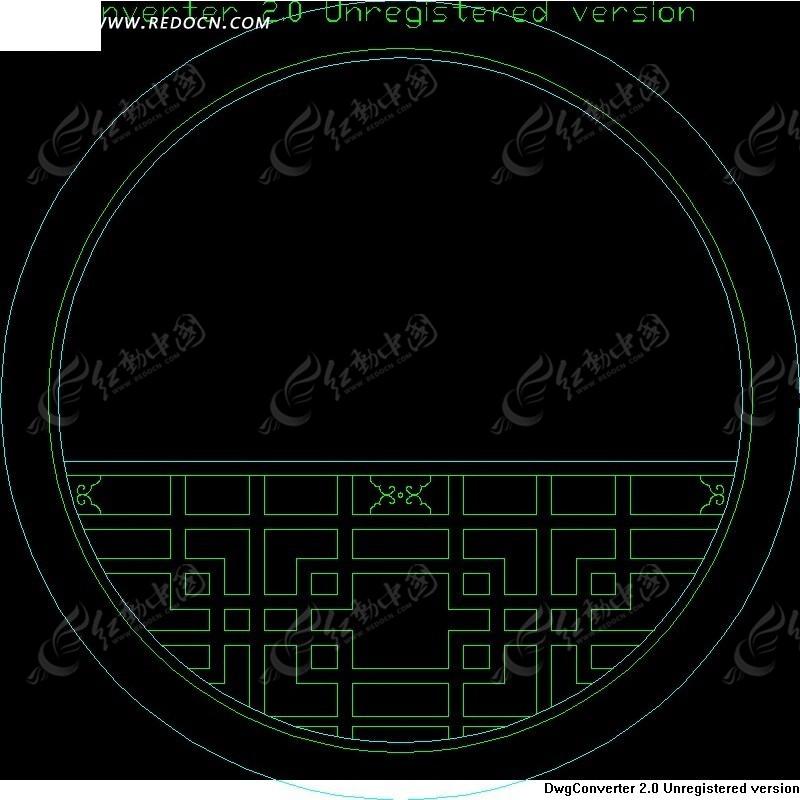 圆形精雕中式窗图片