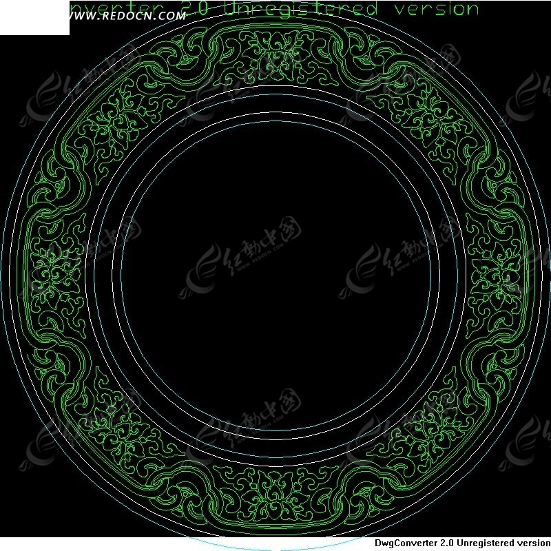 圆形古文雕花镂空中式窗图片