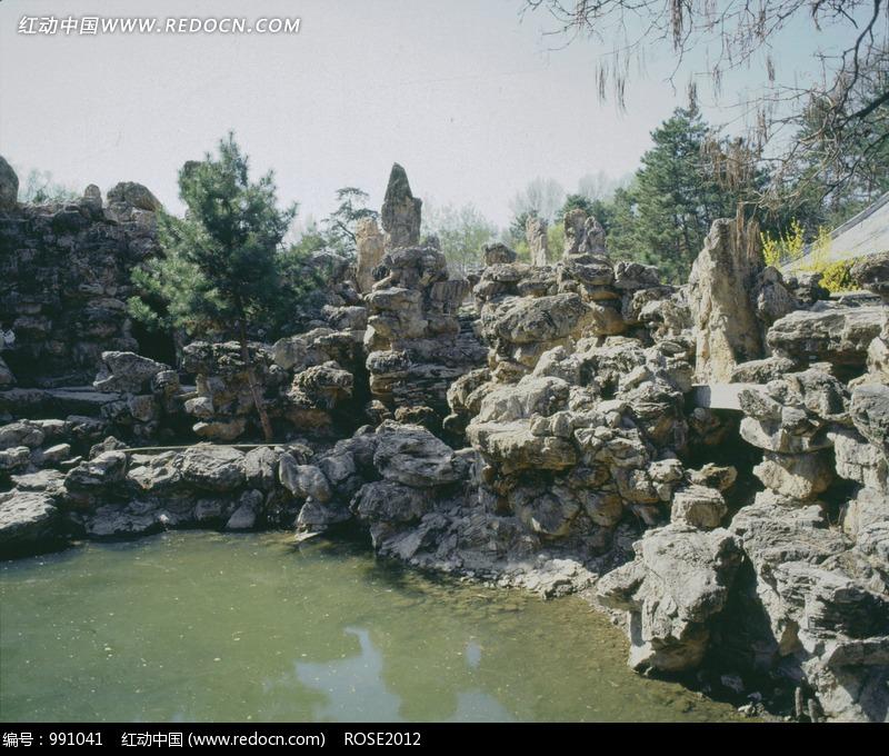 免费素材 图片素材 自然风光 自然风景 承德避暑山庄假山水池  请您分