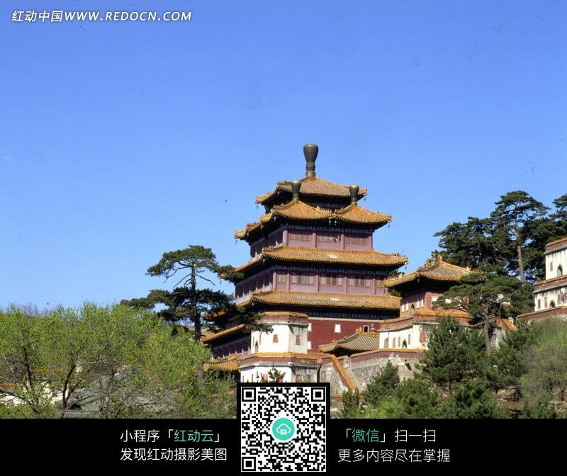 免费素材 图片素材 自然风光 自然风景 承德避暑山庄宝塔建筑  请您