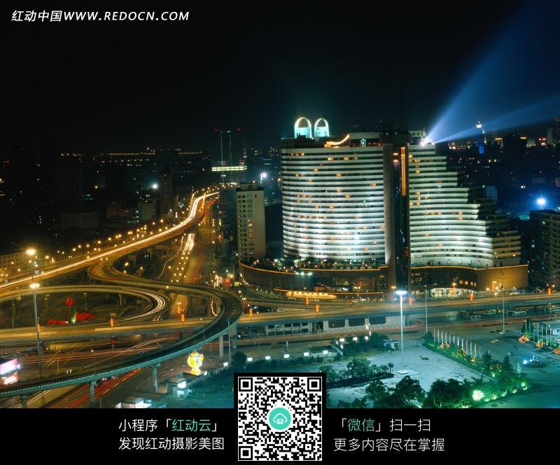 上海华亭宾馆夜景图片