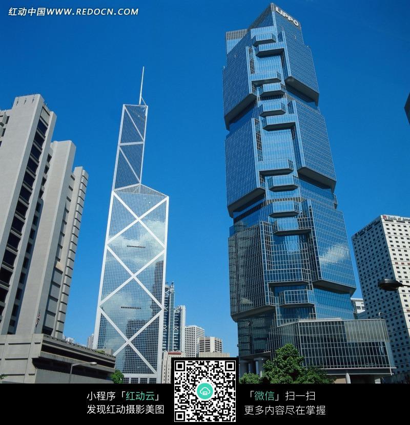 香港中银大厦和摩天楼