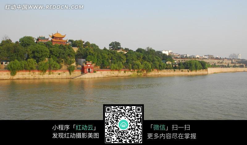 湖南岳阳楼远景图片
