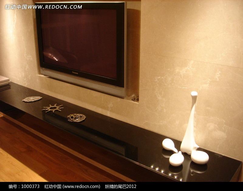 客厅电视装饰矮柜摆饰效果图片高清图片