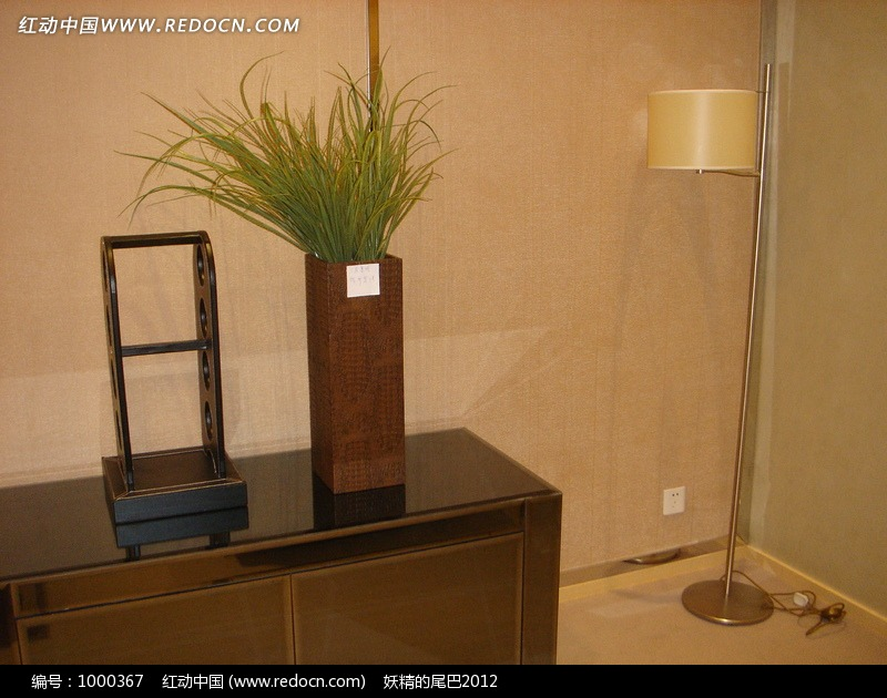 装饰矮柜摆饰灯饰效果图片高清图片