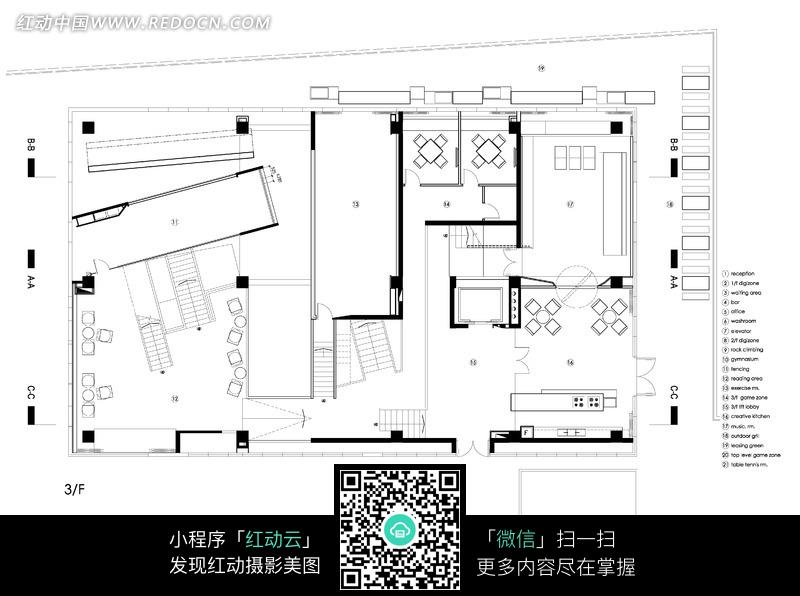 别墅平面布置图图片_室内设计图片