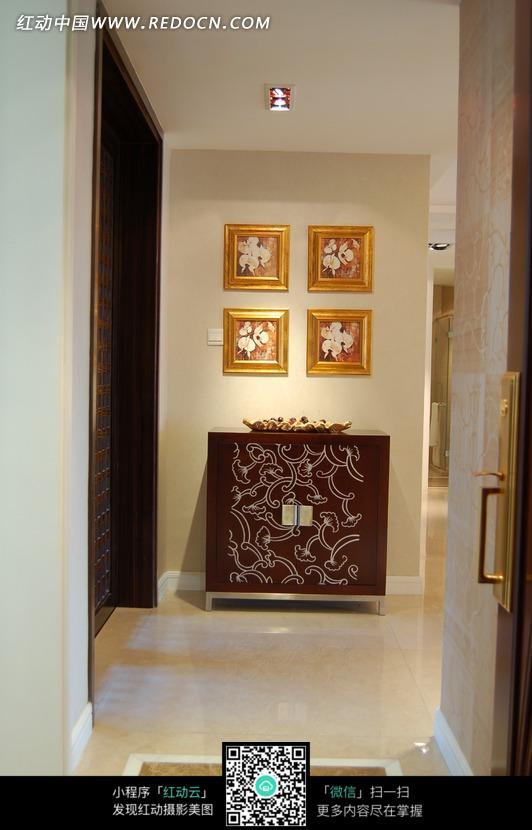 装饰画 挂画 柜子 走廊 装饰效果图 家居环境 时尚家具 室内设计 摄影