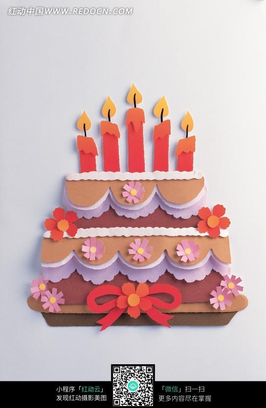 纸雕双层生日蛋糕