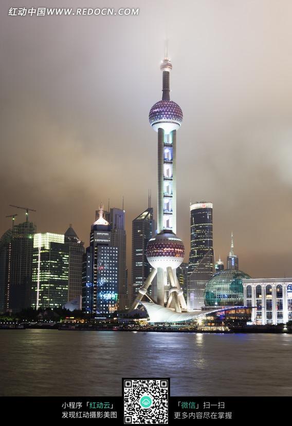 免费素材 图片素材 环境居住 城市风光 上海东方明珠电视塔夜景