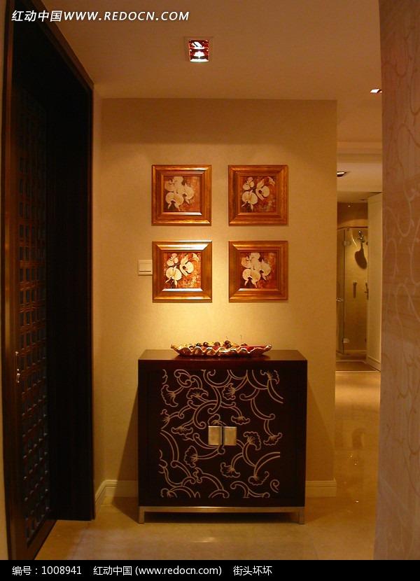 隔墙装饰柜摆饰墙饰灯饰效果图片