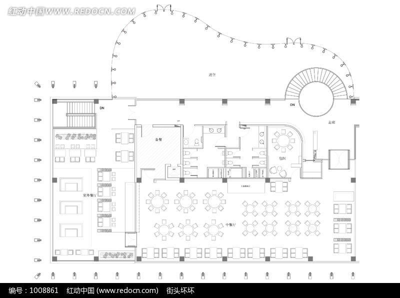 餐厅室内设计布局图