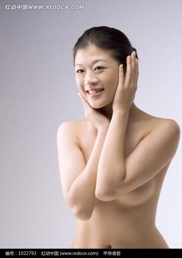 漂亮的裸体美女素材图片