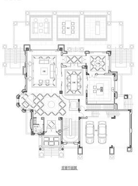 别墅底层CAD平面图