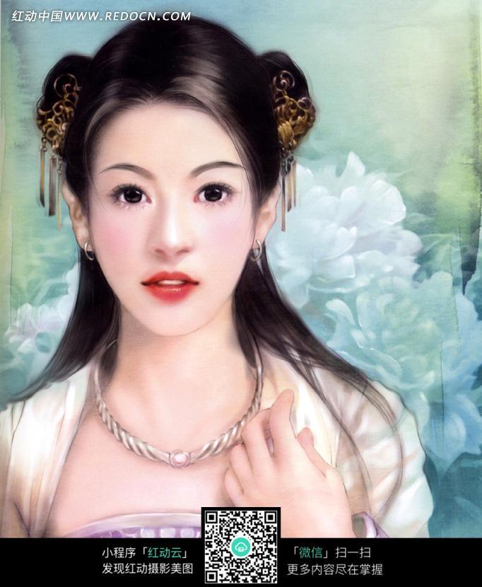 好看的手绘风格古装美女图片_女性女人图片_红动手机版