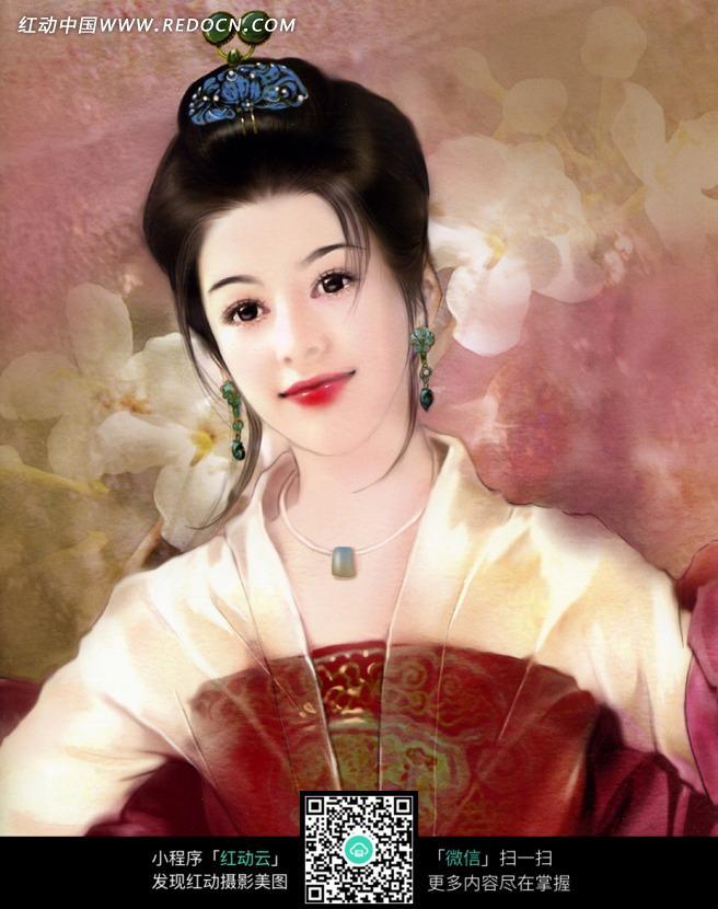 手绘古装美女图片免费下载(编号1032525)_红动网