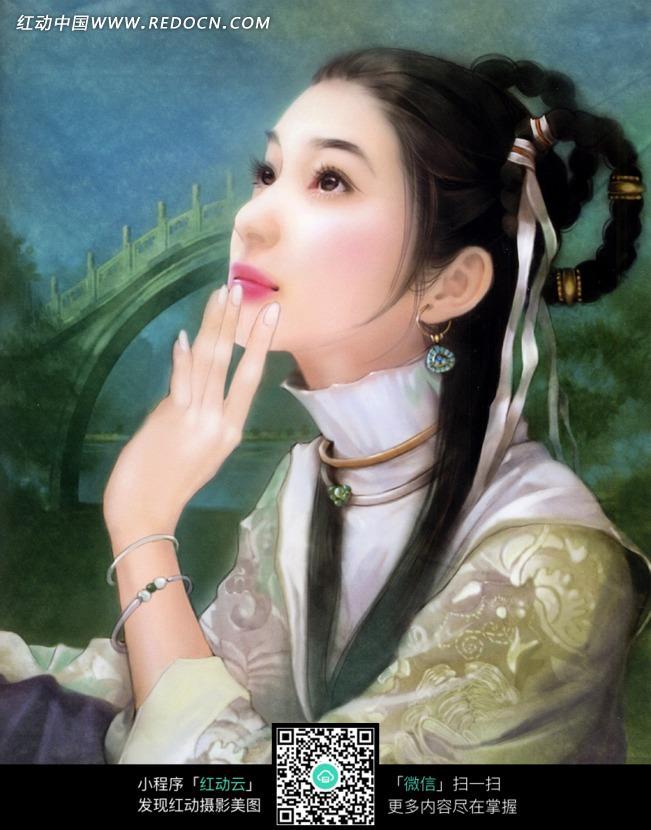 古装cg手绘美女图片素材_女性女人图片_红动手机版