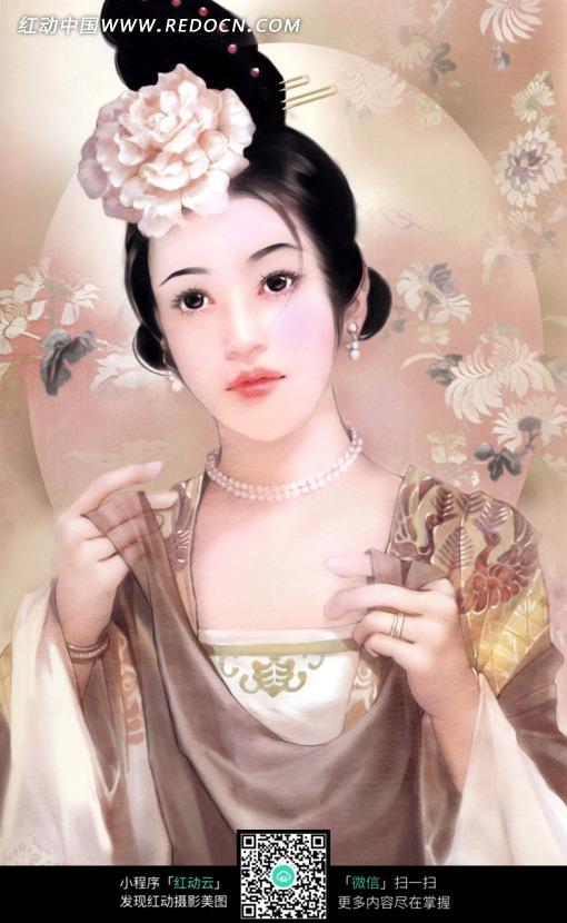 手绘古装美女图片_女性女人图片