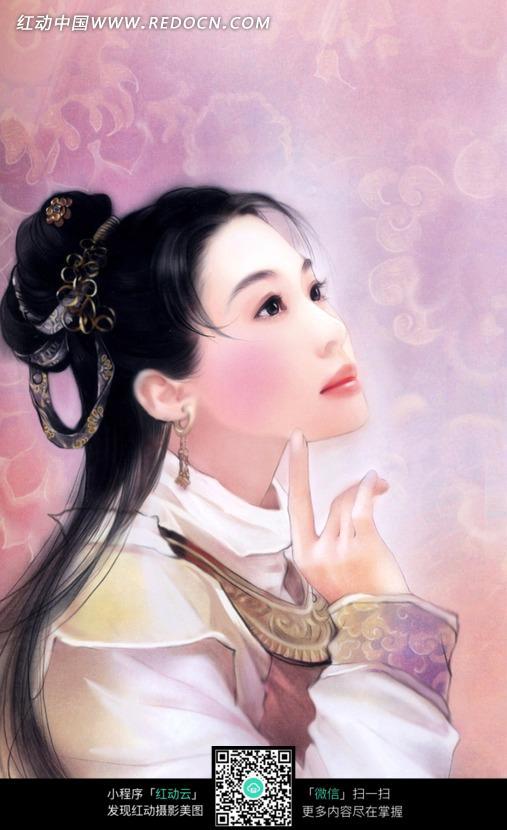ps手绘古装美女图片素材_女性女人图片