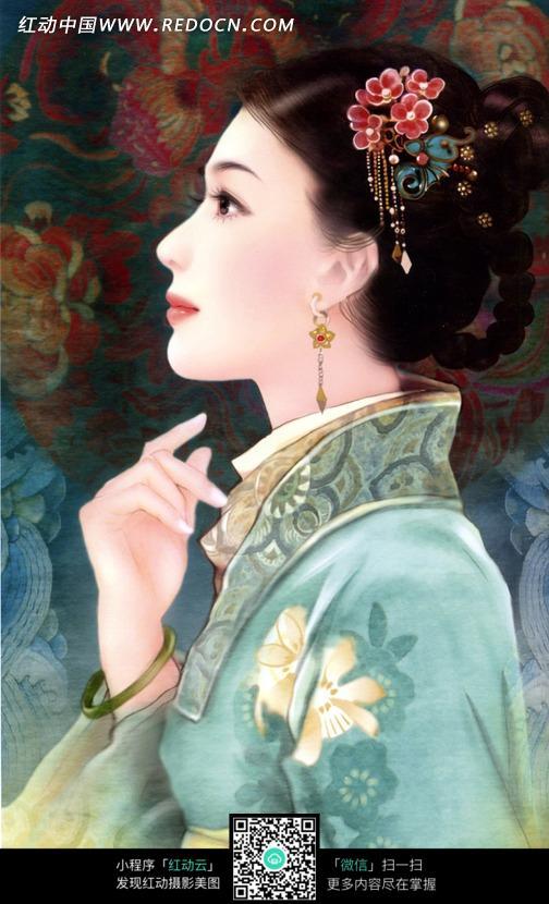 cg手绘古装美女_女性女人图片