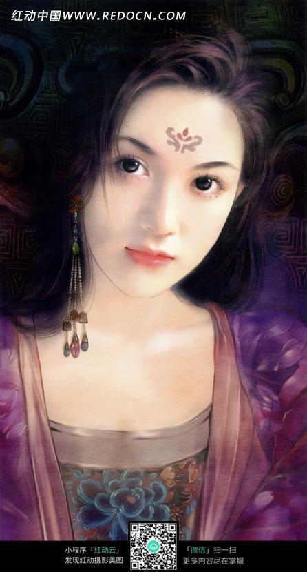 好看的手绘风格古装美女图片