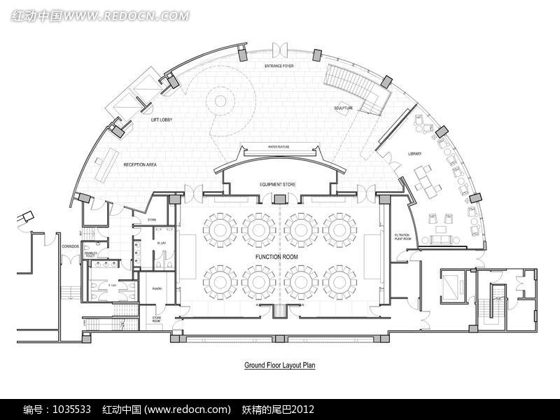 酒店设计平面图