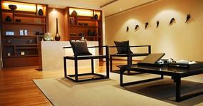 中式风格样板间客厅展示效果图